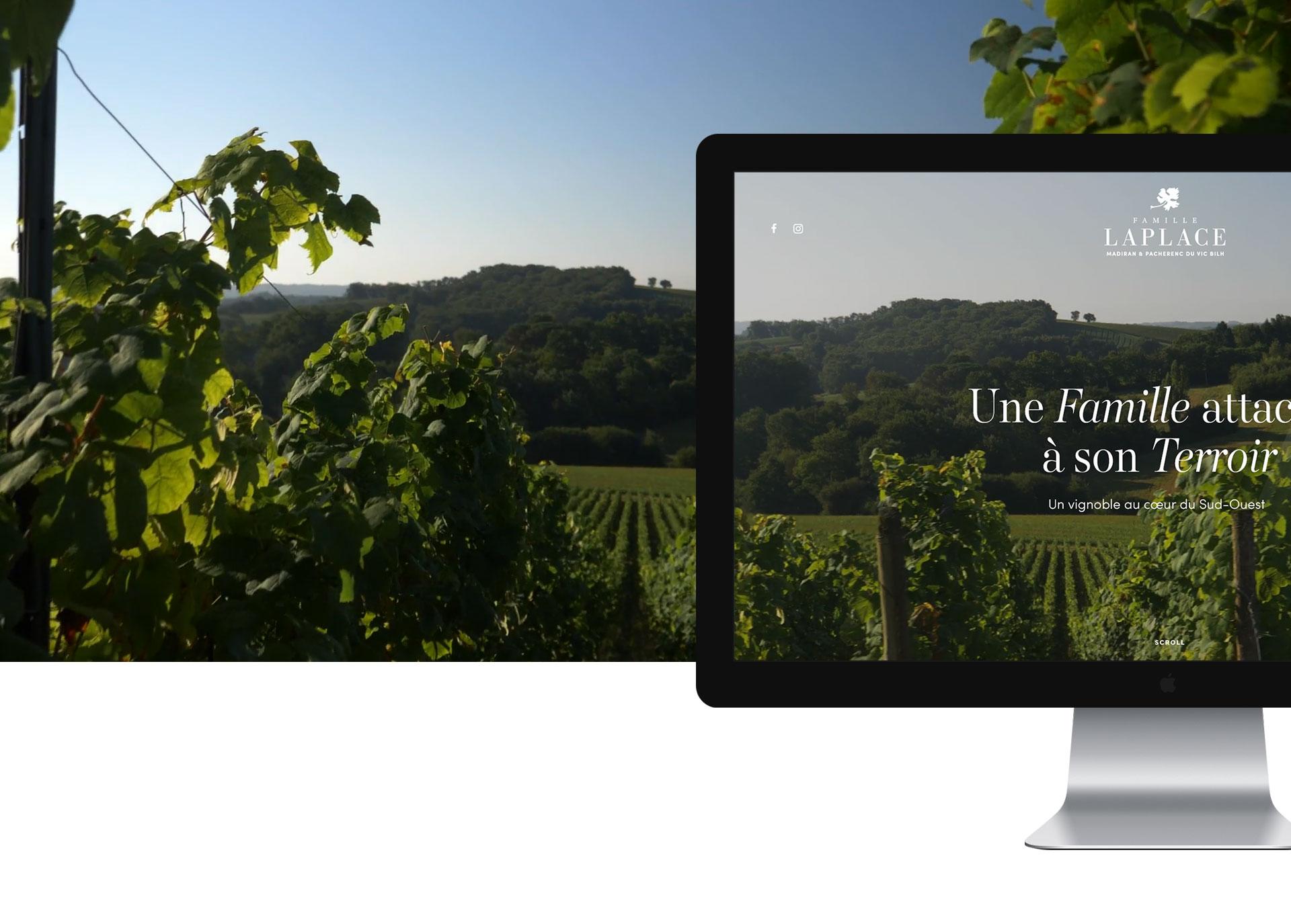 Création de site internet : Famille Laplace