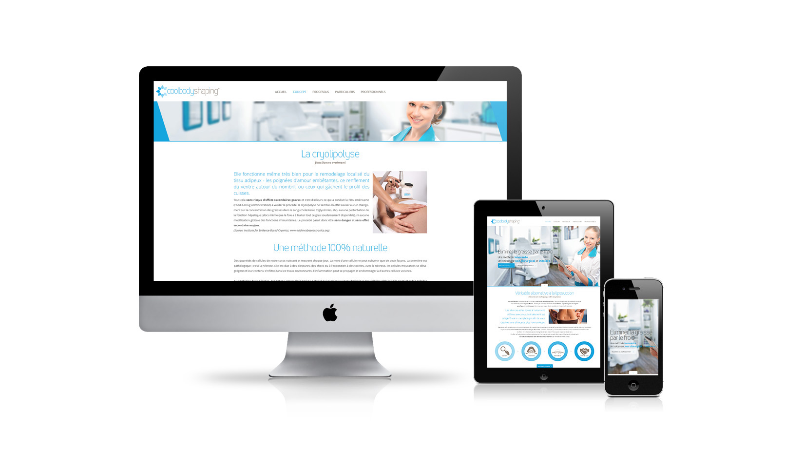 Création de site internet : Cool Body Shaping