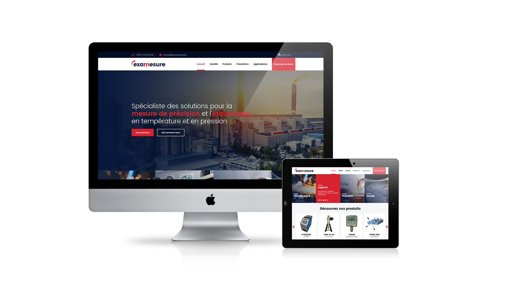 Création de site internet : Examesure