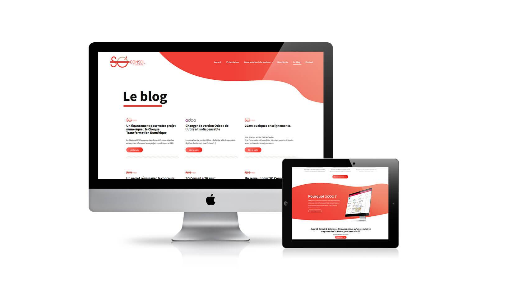 Création de site internet : SO Conseil