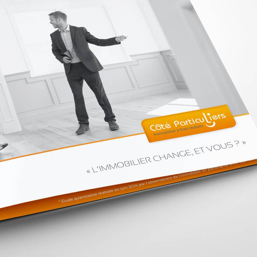 Création de brochure Côté Particuliers