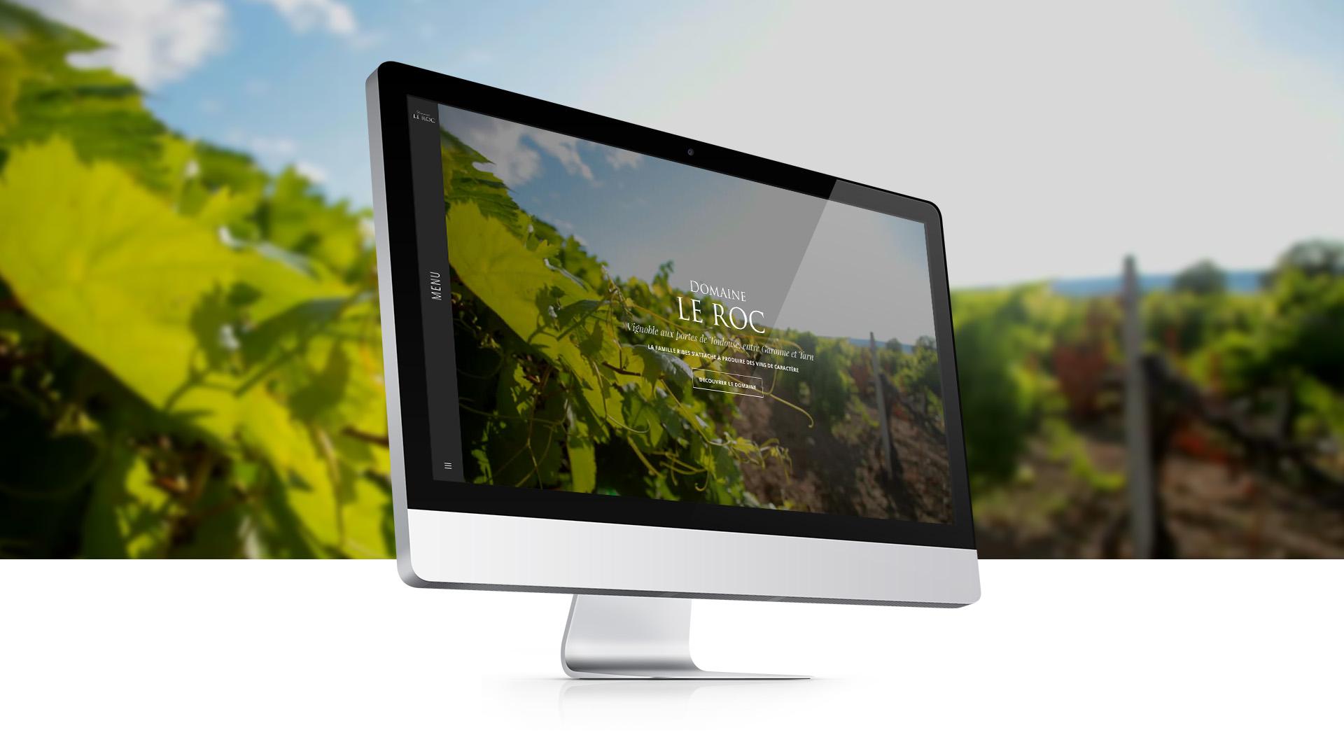 Création de site internet : Domaine Le Roc